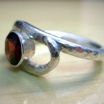 Janice Fowler Jewelry Ring Sterling Silver and Garnet