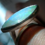 Janice Fowler Jewelry Ring Sterling Silver and Opal