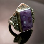 Janice Fowler Jewelry Ring Sterling Silver and Charoite