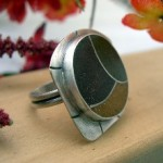 Janice Fowler Jewelry Ring Sterling Silver and Resin